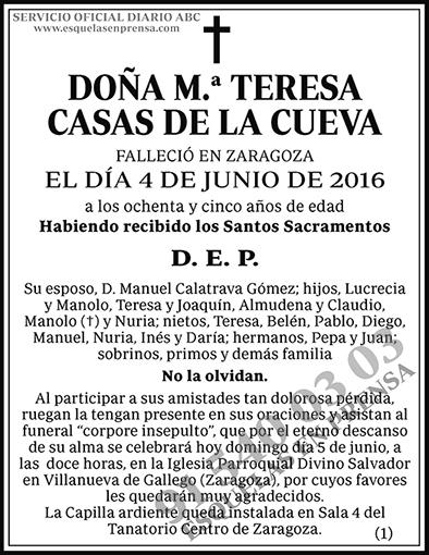 M.ª Teresa Casas de la Cueva